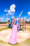 Modern children playground slide Royalty Free Stock Photo