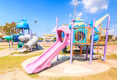 Modern children playground slide Stock Image