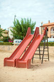 Modern children playground slide. Stock Image