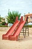 Modern children playground slide. Modern children playground slide in city park Stock Image