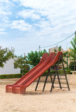 Modern children playground slide. Royalty Free Stock Images