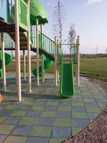 Modern Children Playground Slide. In the park Royalty Free Stock Image