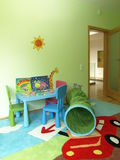 Modern children's room. Children's room in a new modern house royalty free stock photography