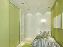 Modern children's room with false ceiling and spotlights. Stock Photography