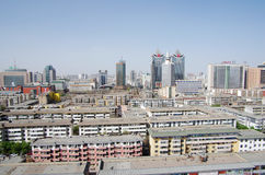 Modern Chinese city of Xining Royalty Free Stock Photo