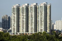 Modern Chinese residential area. In Shenzhen city, Luohu district Royalty Free Stock Photos