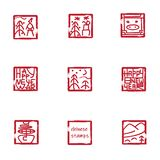 Modern chinese stamps stock illustration
