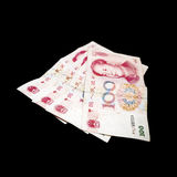 Modern Chinese yuan renminbi banknotes Stock Photos