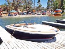 Modern Chris Craft Speed Boat Royalty Free Stock Photos
