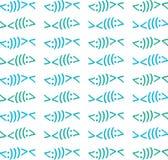 Modern Christian Fish Symbol Vector Pattern Beach Colors Stock Photography