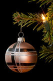 Modern christmas bauble Stock Photo