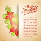Modern christmas card. Royalty Free Stock Photo