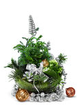 Modern Christmas decoration arrangement Royalty Free Stock Photo