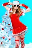 Modern christmas girl royalty free stock photography