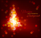 Modern Christmas glittering tree Royalty Free Stock Photos
