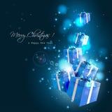 Modern Christmas greeting card Royalty Free Stock Image