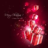 Modern Christmas greeting card Stock Photography