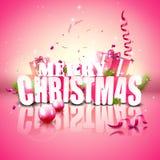 Modern Christmas greeting card Stock Images