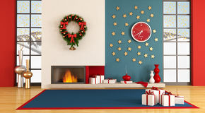 Modern christmas interior royalty free stock photo