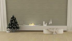 Modern Christmas interior Stock Image