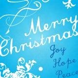Modern Christmas invitation card. Stock Photo