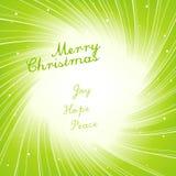Modern Christmas invitation card. Stock Image