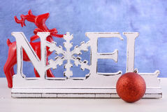 Modern Christmas mantel decorations. Royalty Free Stock Image