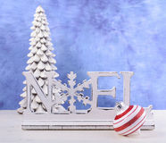 Modern Christmas mantel decorations. Stock Photography