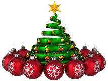 Modern Christmas tree Stock Images
