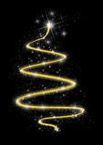 Modern Christmas Tree. A modern black and gold Christmas tree design Royalty Free Illustration