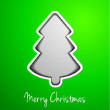 Modern christmas tree. Modern abstract christmas tree on green background Royalty Free Stock Photos