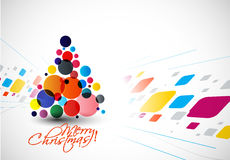 Modern Christmas Tree Background Stock Image