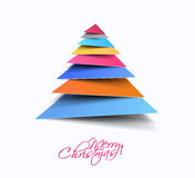 Modern Christmas Tree Background Stock Photography