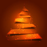 Modern christmas tree background with holy lights Stock Photos