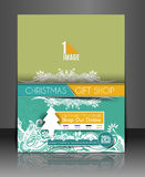 Modern christmas tree background. Vector illustration Stock Image