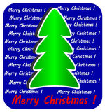 Modern Christmas Tree on blue background, Stock Photos