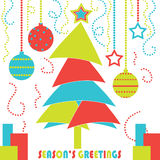 Modern Christmas Tree Card Royalty Free Stock Photography