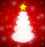 Modern Christmas tree card Stock Photo