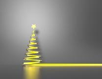 Modern christmas tree Stock Photography