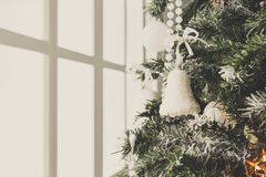 Modern christmas tree decoration background Stock Images