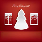 Modern Christmas tree design Royalty Free Stock Photo