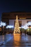 Modern Christmas tree, Fuengirola, Spain. Royalty Free Stock Images