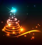 Modern Christmas tree. Stock Images