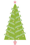 Modern Christmas Tree Illustration Stock Images