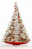 Modern christmas tree isolated Royalty Free Stock Image