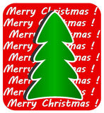 Modern Christmas Tree on red background,  Royalty Free Stock Photo