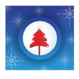 Modern Christmas Tree template Royalty Free Stock Photo
