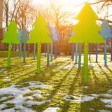Modern christmas trees Stock Photography