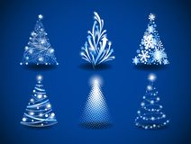 Modern Christmas trees Stock Images