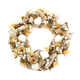 Modern christmas wreath with decorations Royalty Free Stock Images